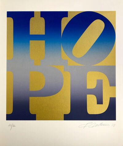 Robert Indiana, 'Winter, Four Seasons of Hope, Gold Portfolio', 2012