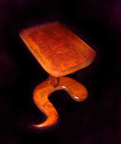 Margery Goldberg, 'Babinga Slab End Table'