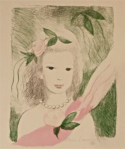 Marie Laurencin, 'Fillette à La Rose', 1955