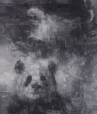 Adam Chang, 'Shan Shui with Panda, black', 2018