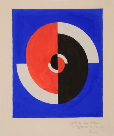 Sonia Delaunay, 'Rythme rouge et noir', 1945