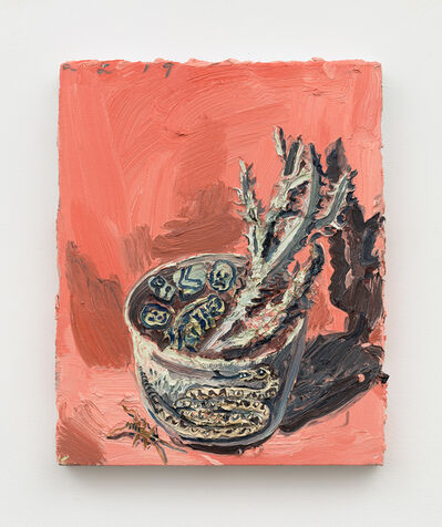 Allison Schulnik, 'Snake Bowl & Cricket', 2019