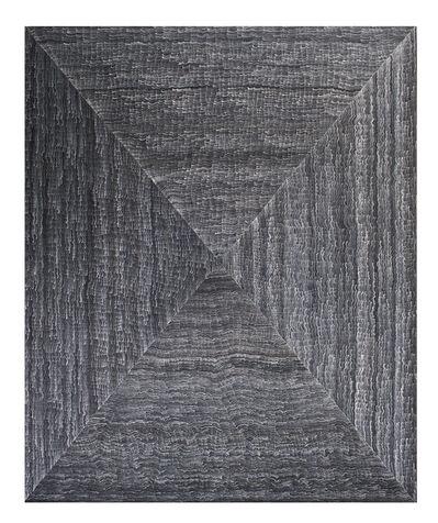 Javier León Pérez, 'Exercise of White Lines on Black Background #03', 2014