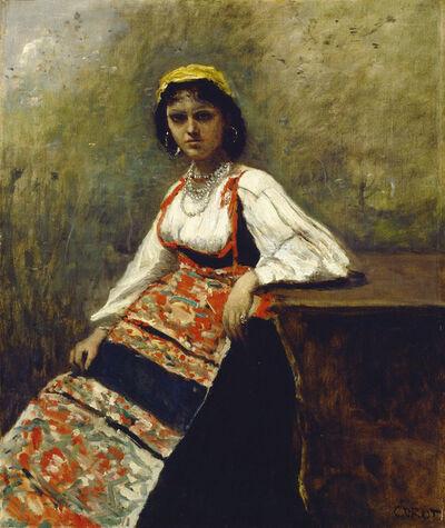 Jean-Baptiste-Camille Corot, 'Italian Girl', ca. 1872