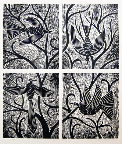 Judy Kensley McKie, 'Birds in Tree', 1990