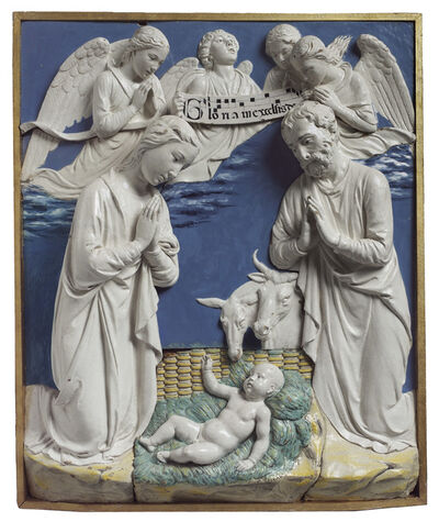 Luca della Robbia, 'Nativity with Gloria in Excelsis ', 1465-1470