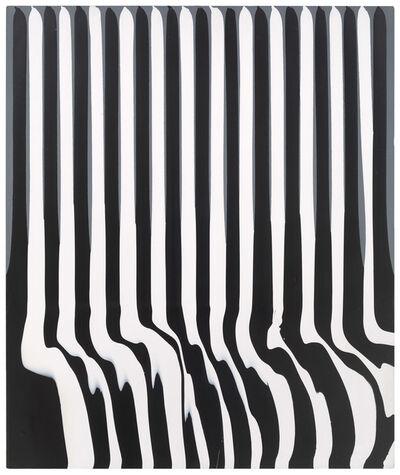 Ian Davenport, 'Puddle painting: grey black white n. 3 '
