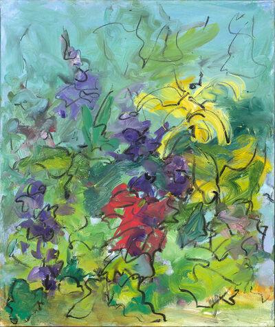 Mary Page Evans, 'Summer Garden Delphinium', 2018