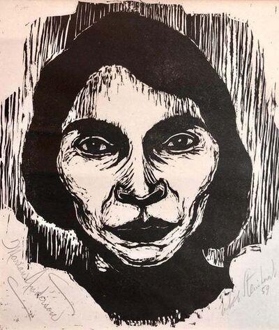 Jacob Steinhardt, 'Steinhardt Woodcut Marian Anderson Signed African American, Israeli Bezalel Art', 1950-1959