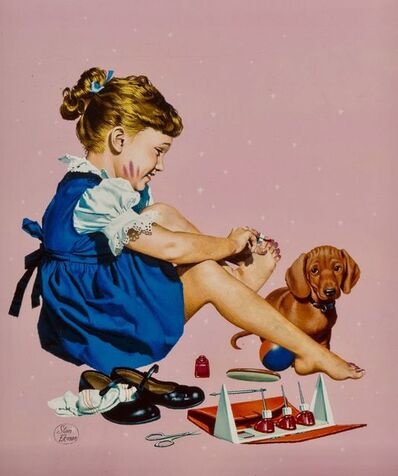 Stanley Ekman, 'Painting Her Toenails, American Weekly Magazine Cover', 1953