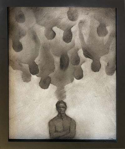 Marc Barker, ''How Aren't You?' from the series 'The Illusion of Mattering'  Oil on Panel Painting by Marc Barker', 2003