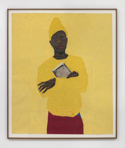 Amoako Boafo, 'In Yellow with Malcolm', 2018