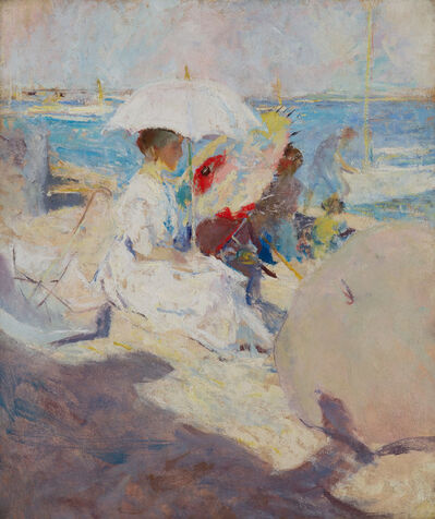 Charles Webster Hawthorne, 'Girl on the Beach', ca. 1900