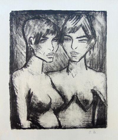 Otto Müller, ' Two Girls - Half Nudes | Zwei Mädchen - Halbakte', 1920