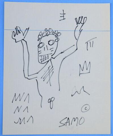 Jean-Michel Basquiat, 'Nude Man w/ Tribal Markings', ca. 1980