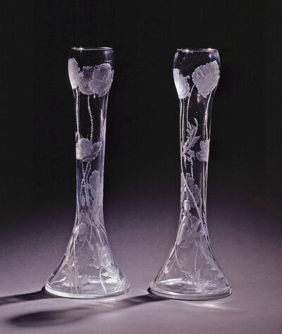 Imperial Glassworks, 'Pair of Vases', 1914