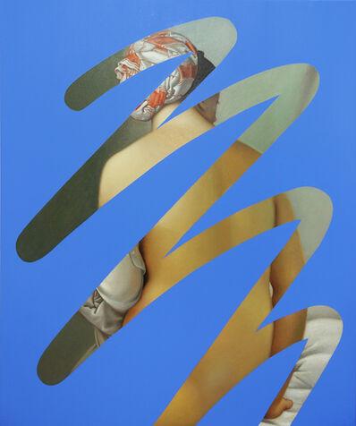 Lino Lago, 'Fake Abstract (Blue on Ingres)', 2021