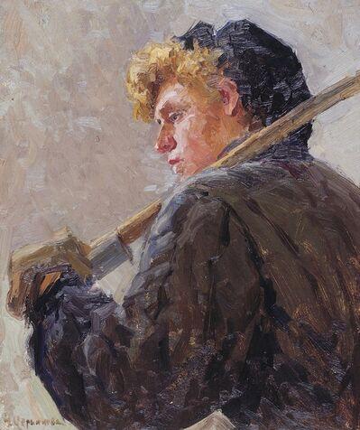 "Nadezhda Eliseevna Chernikova, 'Sketch ""Miner""', 1960"