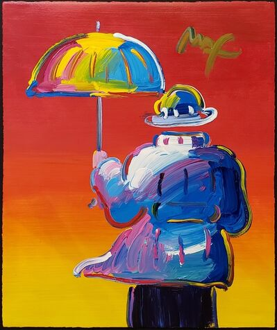Peter Max, 'Umbrella Man on Red ', 2012