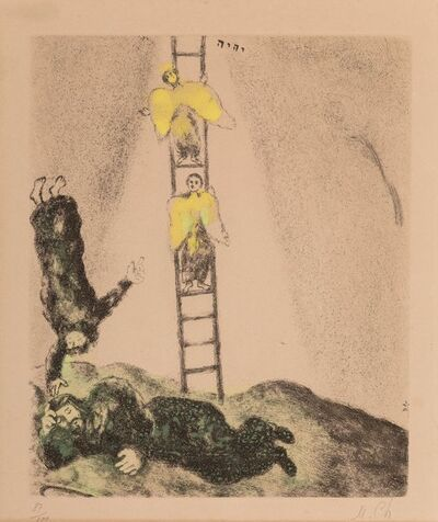 Marc Chagall, 'Jacob's Ladder, plate 14, from Bible', 1958