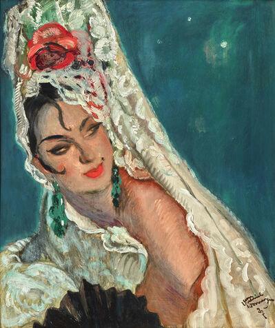 Jean Gabriel Domergue, 'Femme á la mantille', 1927