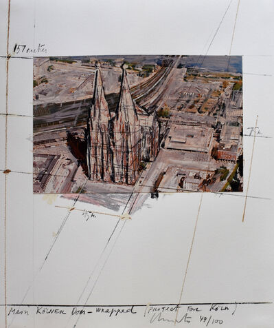 Javacheff Christo, 'Mein Kölner Dom Wrapped, Project for Köln, from: Five Urban Projects', 1985