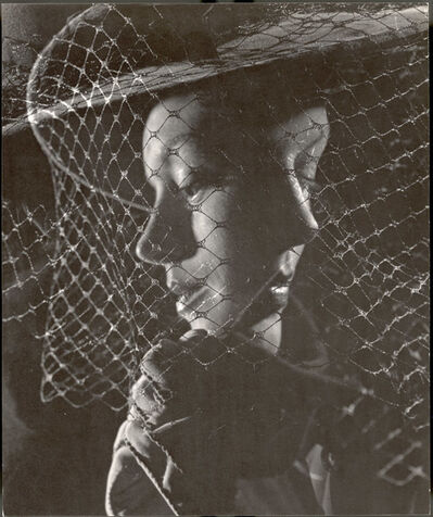 Gjon Mili, 'Double Exposure of Models Wearing Hat with Heavy Face Veil', 1946