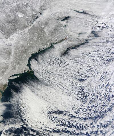 Michael Benson, 'North Atlantic Clouds, Terra, January 24, 2011', 2016