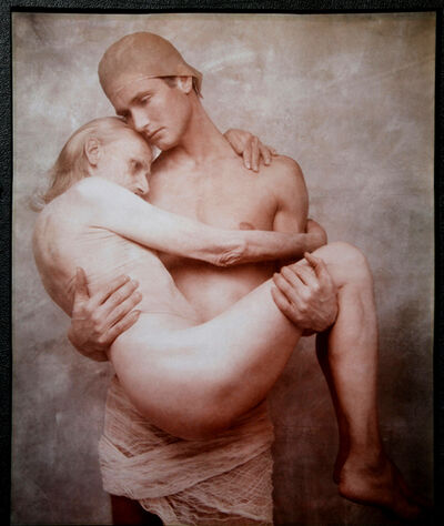 Joyce Tenneson, 'Young Man Holds Old Man', 1990