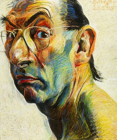 Johannes Grützke, 'The own head', 1995