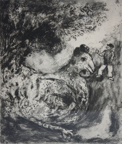 Marc Chagall, 'La poule aux oeufs d'or (from La fables de la Fontaine)', 1927
