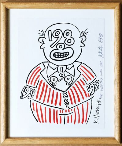 Keith Haring, '1988 Man (Hand signed and inscribed to pioneering art dealer Dorothy Berenson Blau)', 1988