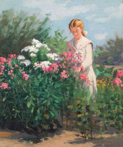 Lee Lufkin Kaula, 'Girl in a Garden', 19th/20th century