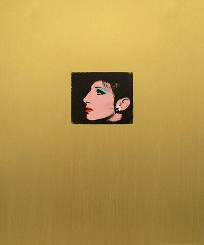 Deborah Kass, 'Gold Barbra', 2013