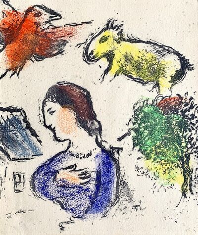 Marc Chagall, 'Woman with animals', ca. 1956