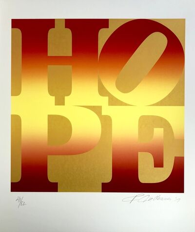 Robert Indiana, 'Autumn, Four Seasons of Hope, Gold Portfolio', 2012