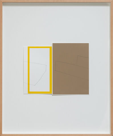Kate Shepherd, 'Yellow Frame and Brown Solid, Box and Tray Halves Collide, outline and 3-D', 1999