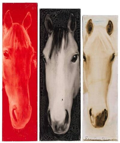 Joe Andoe, '(i) Untitled (Red Horse Head)  (ii) Untitled (Horse Head) (iii) Untitled (Horse Head)'