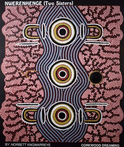 "Norbett Kngwarreye, 'Kwerenhenge - ""Two Sisters""', ca. 1990"