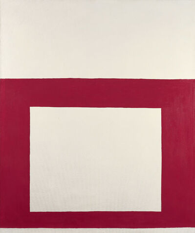 Perle Fine, 'Cool Series No. 1 (Red over White)', 1961-1963