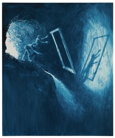 """Mark Tansey, 'Study for """"Discarding the Frame""""'"""