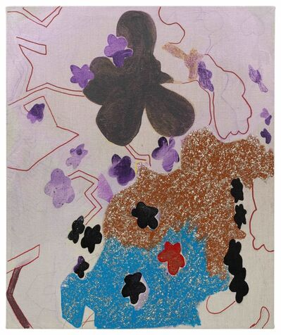 Candida Alvarez, 'Flower Stars in Lavendar', 2019