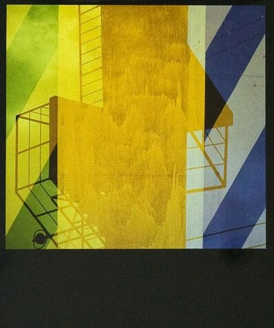 Yasuhiro Ishimoto, 'Unitled (abstraction with yellow and grey)', 1981-printed 1980s
