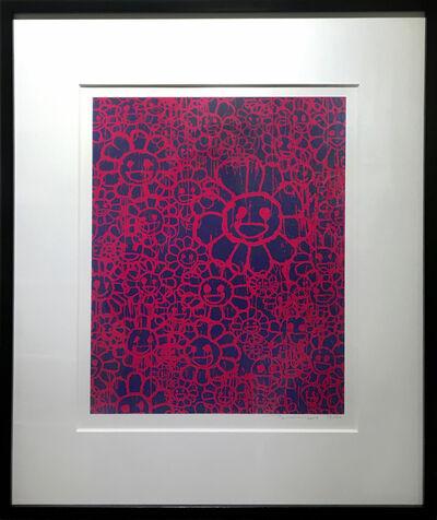 Takashi Murakami, 'Madsaki Flowers C pink', 2017