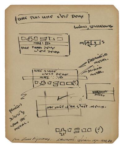 Lawrence Weiner, 'Senza titolo (une plus une c'est deux)', 1987/1988