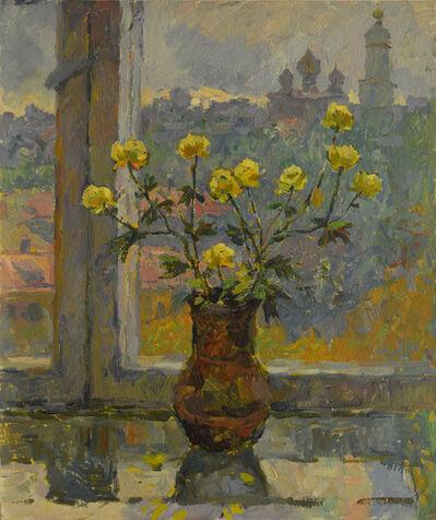 Vladimir Frolovich Stroev, 'Flowers beside the window', 1988