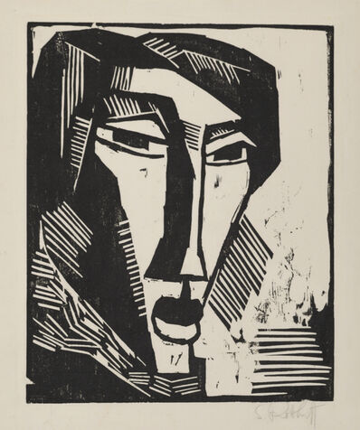 Karl Schmidt-Rottluff, 'Head of a Woman', 1915