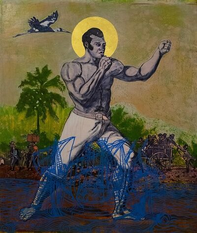 Godfried Donkor, 'St Thomas, up to scratch', 2019