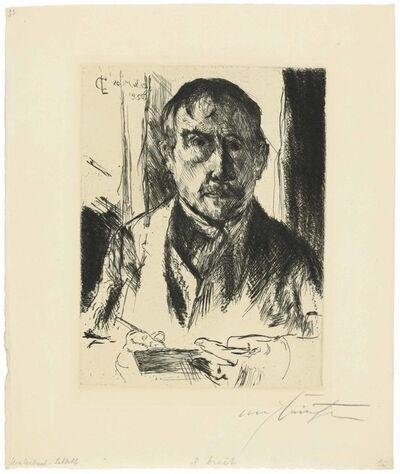 Lovis Corinth, 'Selbstbildnis (Self-Portrait)', 1920
