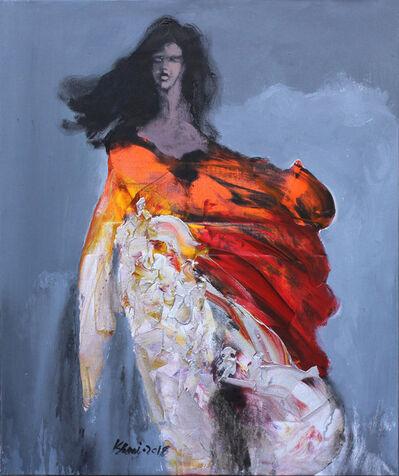 Khalid El-Khani, 'Orange & White', 2018